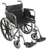 Aidapt Self Propelled Steel Wheelchair