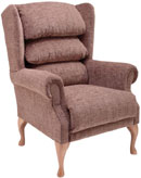 Cannington Fireside Chair Kilburn Cocoa