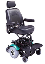 Rascal P327XL Seat Lift Powerchair Teal