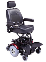 Rascal P327XL Seat Lift Powerchair Red